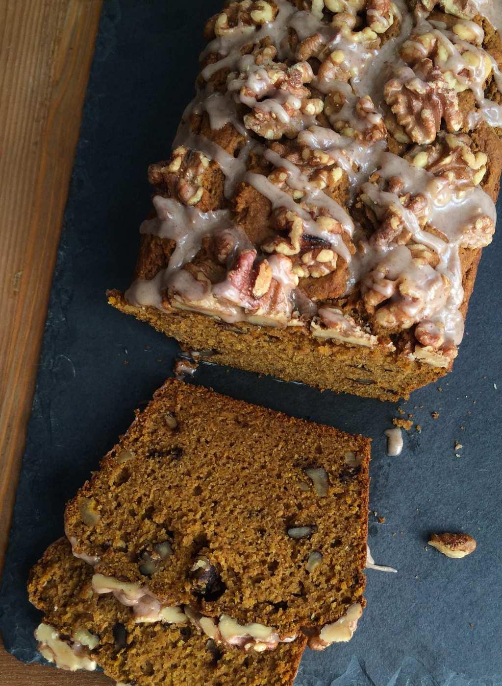 Whole Wheat Walnut Pumpkin Bread