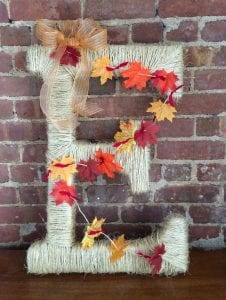 Monogram Letter Wreath