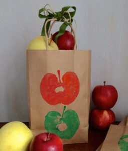 Apple Stamps Craft bag