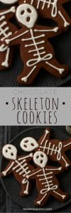 skeleton cookies long pin