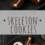 skeleton cookies pin image
