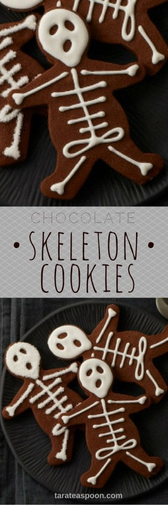 skeleton cookies pin image