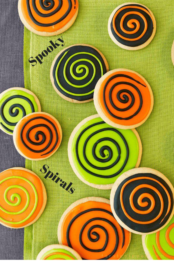 Spooky Spiral Halloween Cookies are easy to make