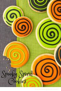 spooky spiral Halloween cookies make the holiday fun