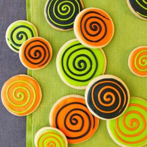 Spooky Spiral Halloween Cookies are the ultimate psychedelic treat!