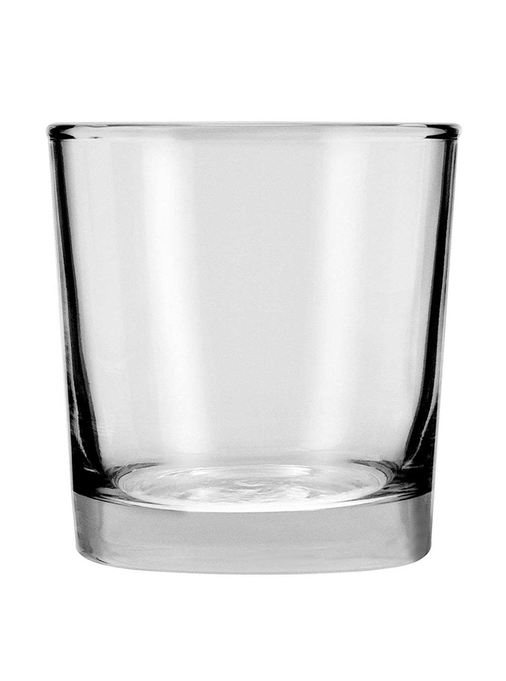 small glass on white