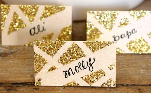 Glitter Place Card