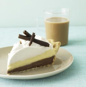 Black Bottom Cream Pie is the perfect combo of vanilla and chocolate
