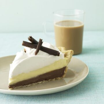 Black Bottom Cream Pie slice