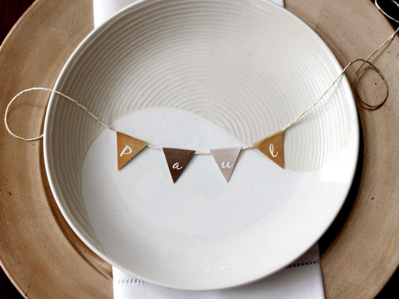 Mini Bunting Place Card