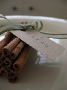 Cinnamon Stick Place Card