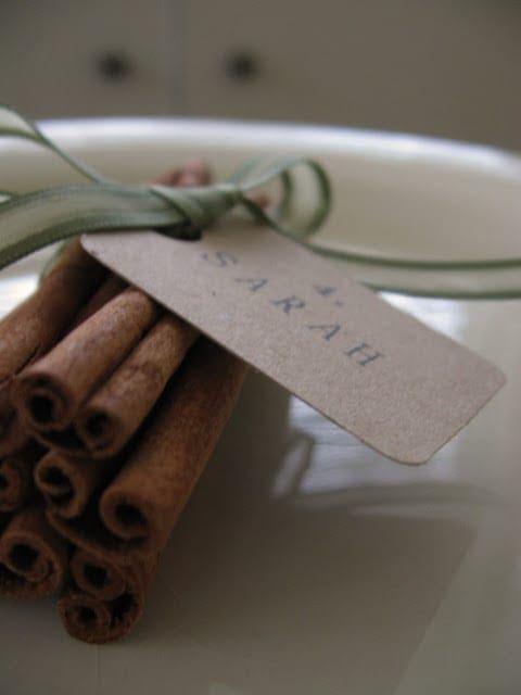 Cinnamon Stick Place Card