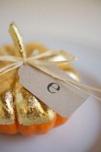 Gilded Pumpkin place card