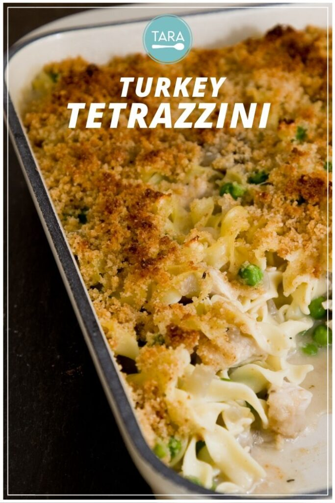 Easy Turkey Tetrazzini Pinterest Pin