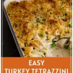 Turkey Tetrazzini from Thanksgiving Leftovers Pinterest Pin