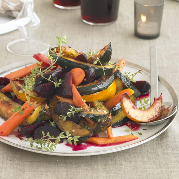 Roasted Vegetable Trio With Orange-Thyme Dressing