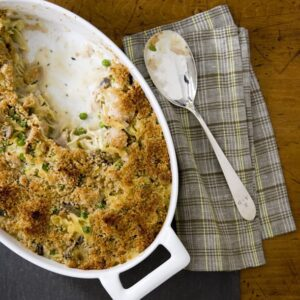 Thanksgiving leftover casserole with turkey