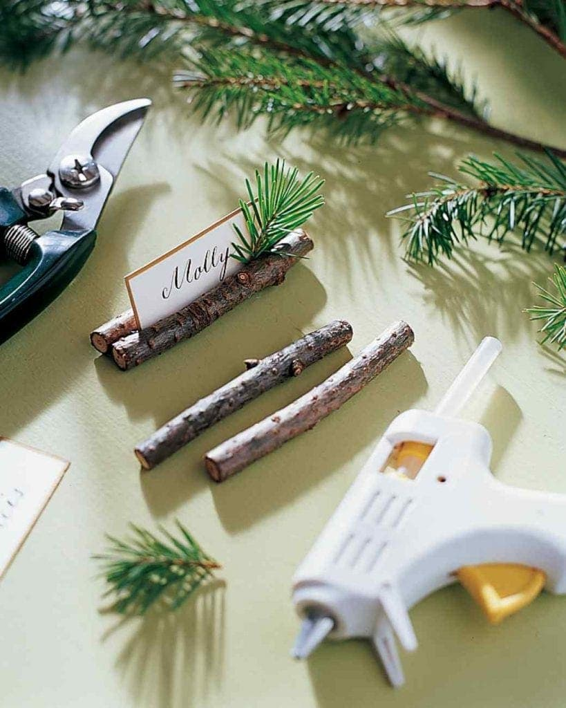 Pine Bough Place Cards