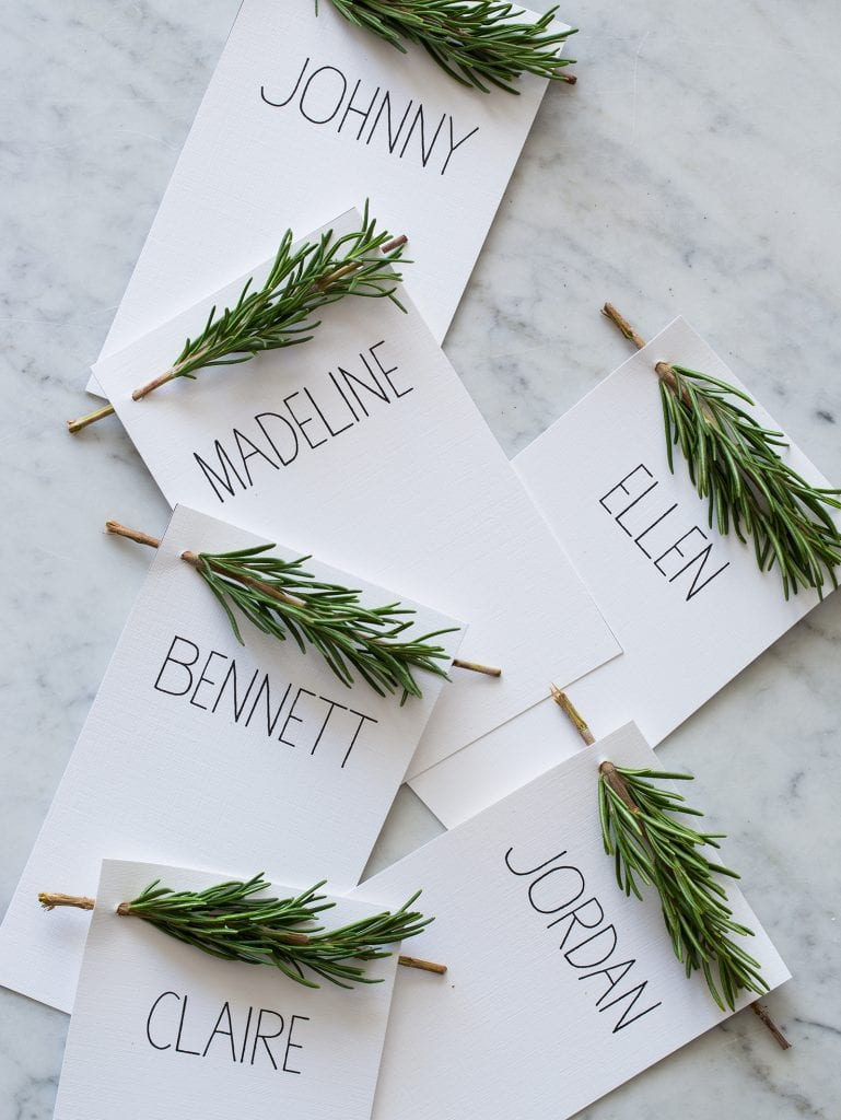 Rosemary Sprig Place Card