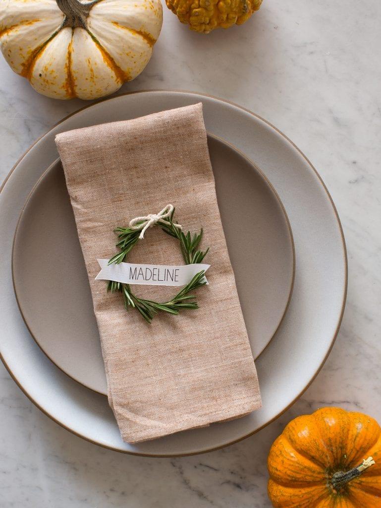 Rosemary Wreath Place Card 10 Simple u0026
