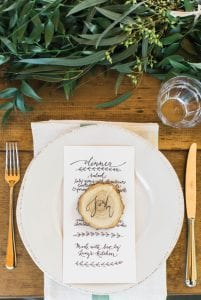 Wood Cut Place Card