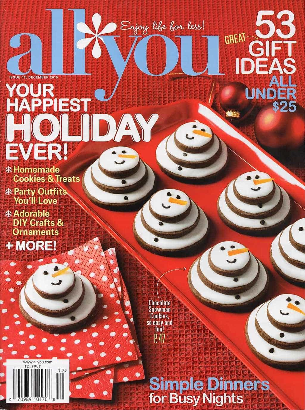 All You Magazine Cookie Cover