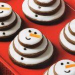 Chocolate Snowman Cookies