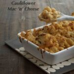 Pinterest image of Cauliflower Mac 'n' Cheese with text