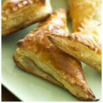 Pinterest image for Ham and Gruyere Turnovers with text