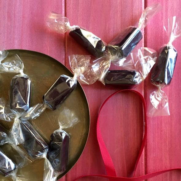 Buttery Black Licorice Caramels