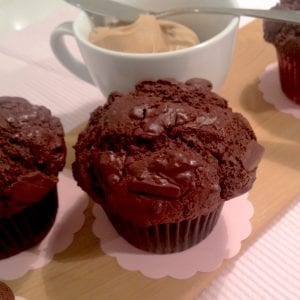 Close up image of Double Chocolate Muffins