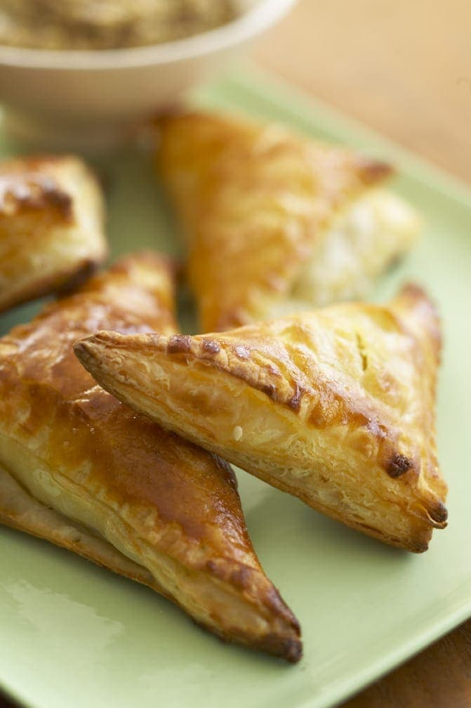 Ham and Gruyère Mini Turnovers