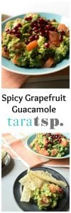 Pinterest image for Spicy Grapefruit Quacamole with text