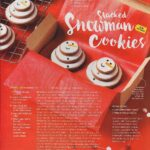 Magazine feature of Tara Teaspoon snowman cookies