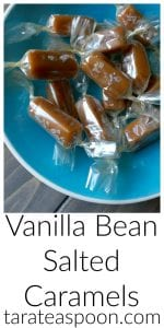 Pinterest image for Vanilla Bean Salted Caramels with text