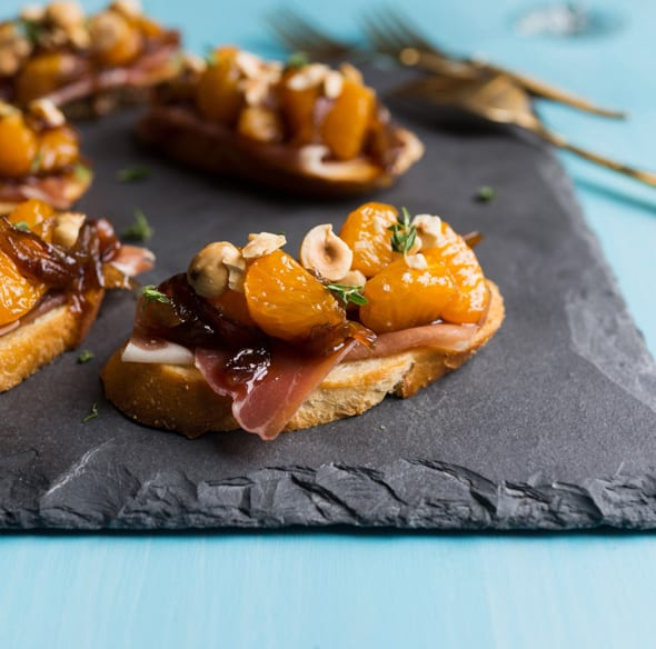 Mandarin & Prosciutto Bruschetta
