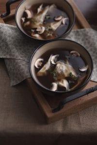 Mushroom Ravioli Soup bowls