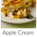 Pinterest image for Apple Cream Cheese-Stuffed French Toast with text