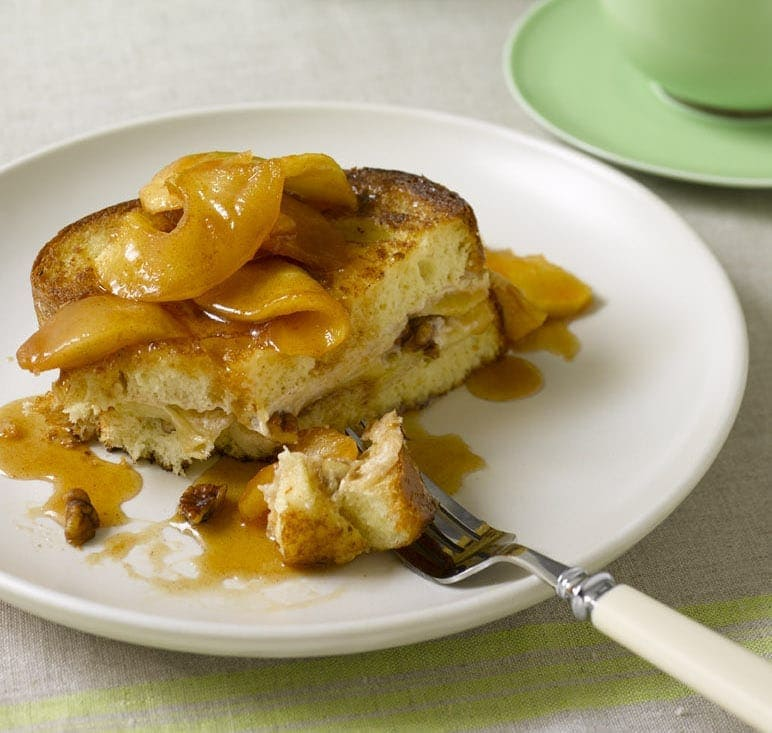 Apple Cream Cheese-Stuffed French Toast
