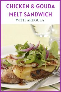 melty chicken sandwich Pinterest pin