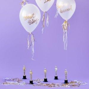 DIY Oscar Party Balloon Awards