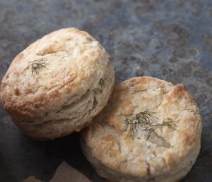 Biscuits made with fresh dill and creamy ricotta