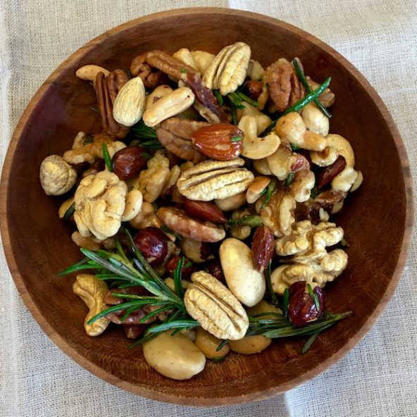 Golden Rosemary Garlic Mixed Nuts