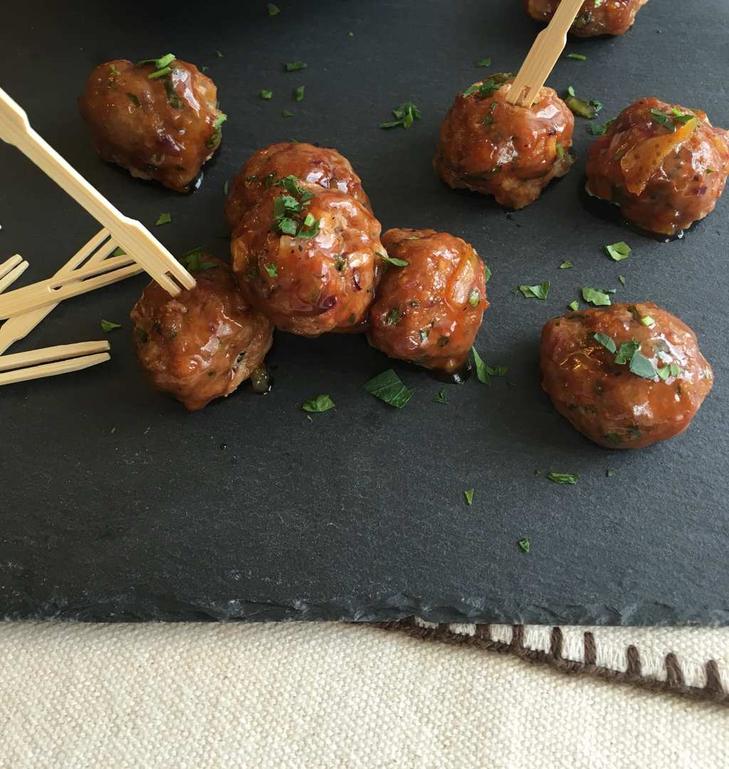 Chicken Meatballs with Cumin and Orange