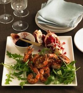 Moroccan Shrimp recipe on white dinner plate