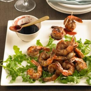 Recipe image of Moroccan Shrimp with Pomegranate Sauce