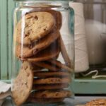 Crisp Pecan Cookies in jar