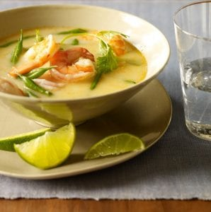 Thai Coconut Shrimp Soup feature recipe image
