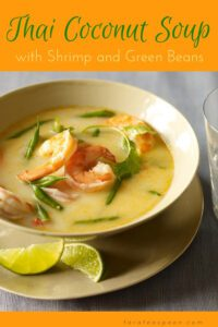 Thai Coconut Shrimp Soup orange pin