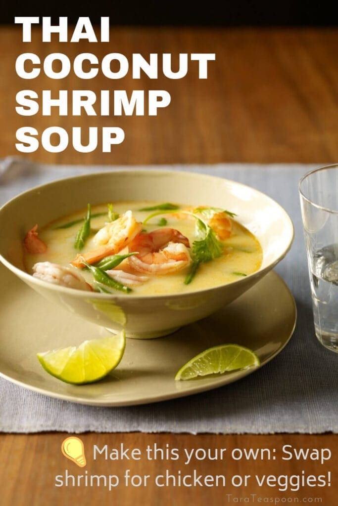 Thai Coconut Shrimp Soup tip pin